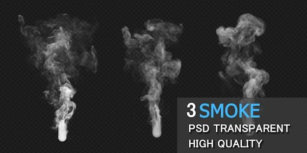 Renderização de desenho de fumaça isolada