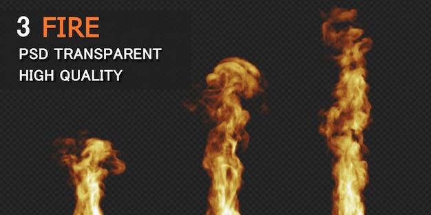 Renderização de design de fogo isolada