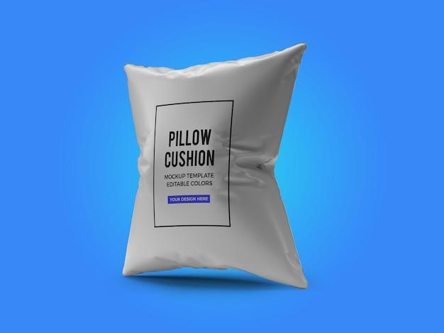 Renderização de design de maquete de almofada de travesseiro