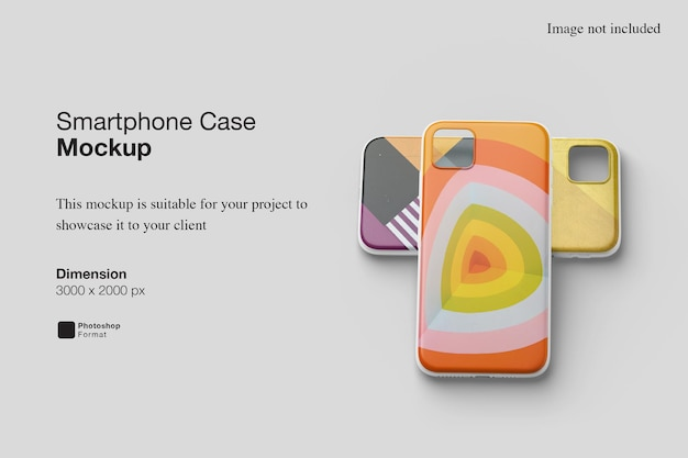 Renderização de design de maquete de capa para smartphone