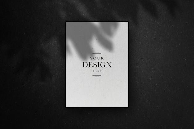 Renderização de design de maquete de carta Psd Premium
