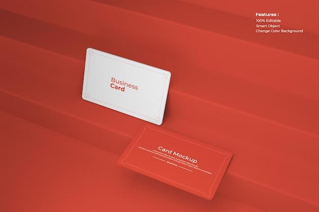 Renderização de design de maquete de cartão de visita
