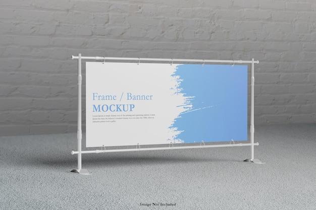 Renderização de design de maquete de quadro de banner