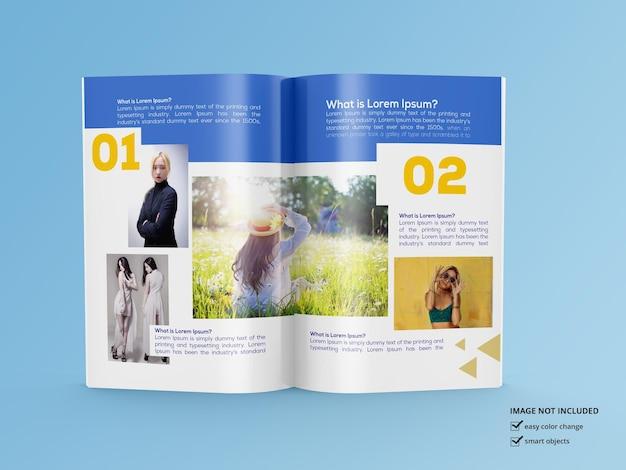 Renderização de design de maquete de revista brilhante