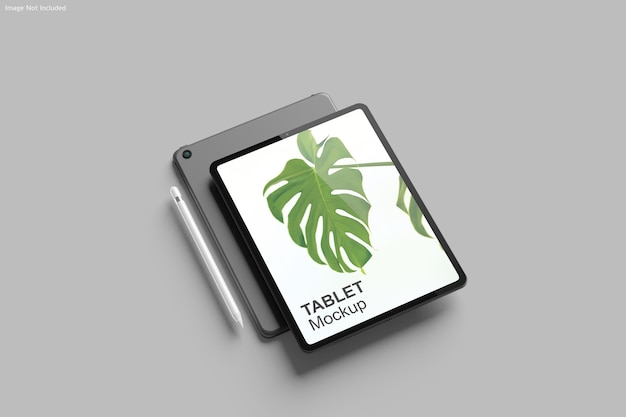 Renderização de design de maquete de tablet
