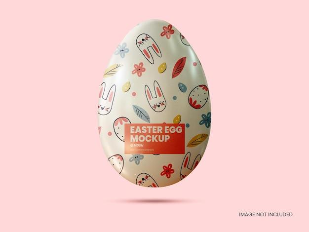 Renderização de design de ovo de páscoa de composição criativa isolada