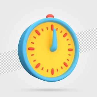 Renderização de ícone de relógio 3d
