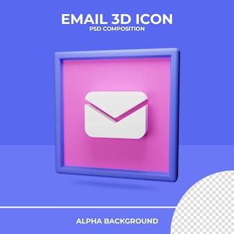 Renderização de ícone de renderização 3d de e-mail