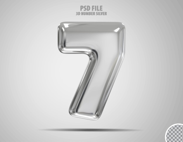 Renderização de luxo de prata 3d número 7