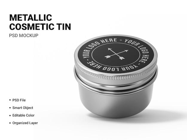 Renderização de maquete cosmética metálica