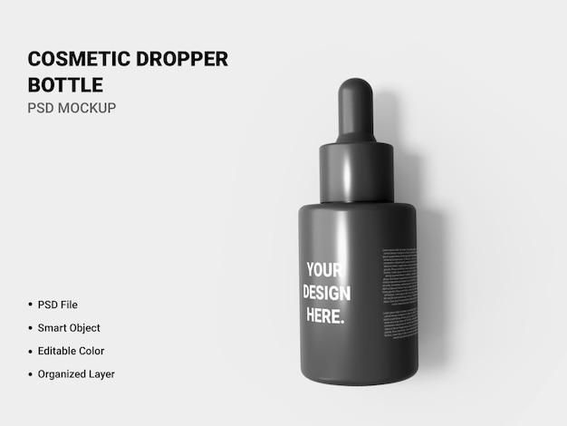 Renderização de maquete de frasco conta-gotas cosmético