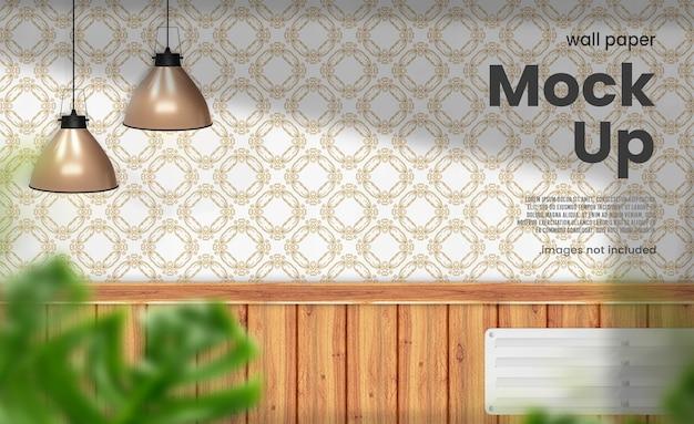 Renderização de maquete de papel de parede