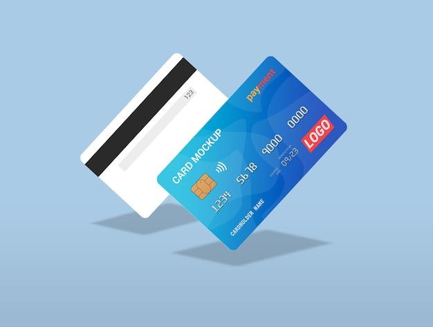 Renderização de modelo de cartão de débito isolada