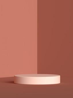 Renderização de pódio de forma de geometria de cena abstrata