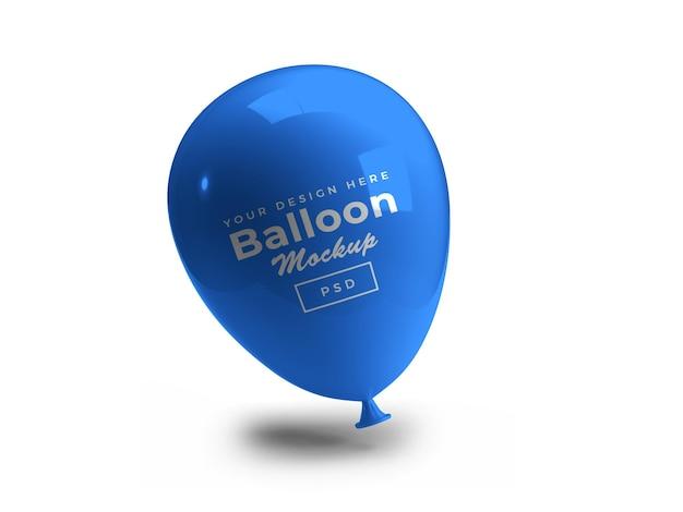 Renderização de projeto de maquete 3d de balão isolada