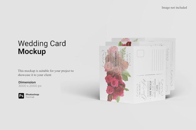 Renderização de projeto de maquete de cartão de casamento