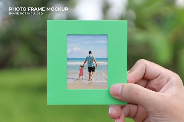Renderização de projeto de maquete de moldura de foto