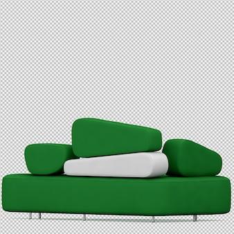 Renderização de sofá isométrica 3d