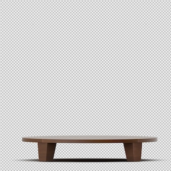 Renderização de tabela isométrica 3d