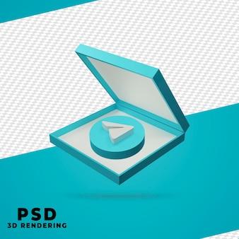 Renderização de telegrama de caixa 3d isolada