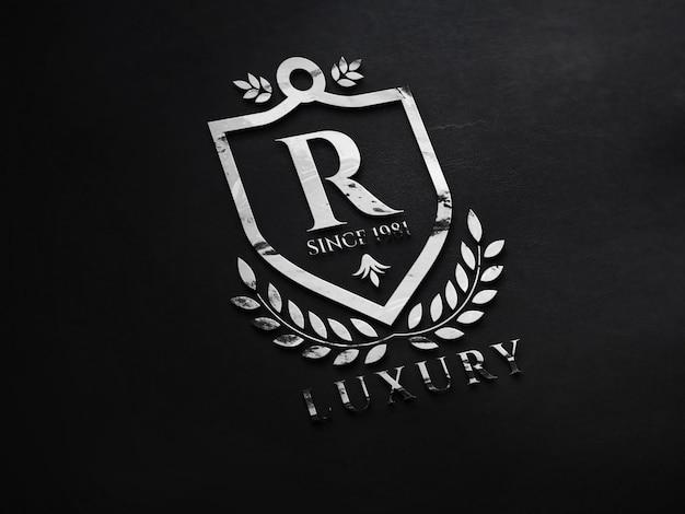 Renderização do design do mockup do logotipo 3d