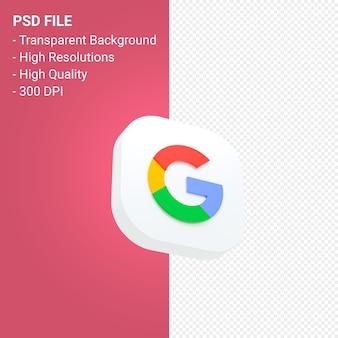 Renderização do ícone 3d do logotipo do google isolada