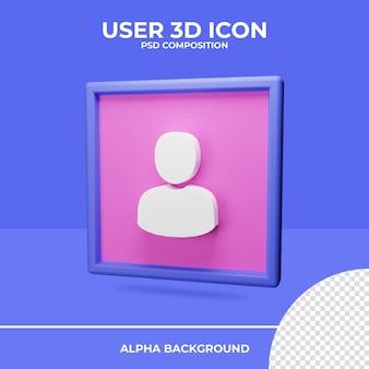 Renderização do ícone de renderização 3d do usuário