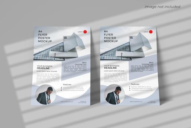 Renderização do projeto da maquete do flyer a4 com vista frontal do anjo