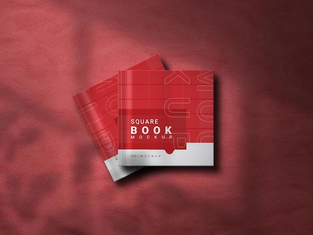 Renderização do projeto da maquete do livro quadrado