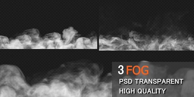Renderização do projeto do solo da fumaça da névoa isolada