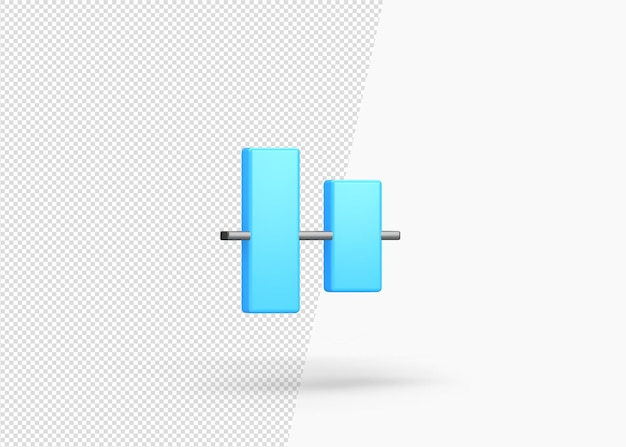 Renderização em 3d, alinhamento vertical, centro isolado