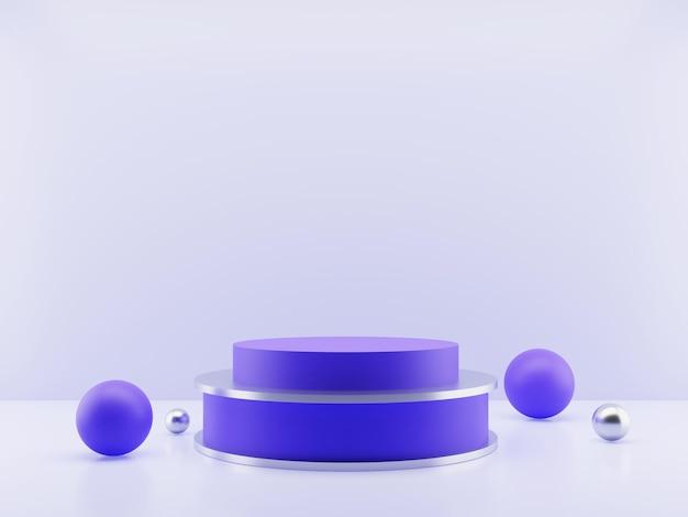 Renderização em 3d da exibição ou pódio minimalista do produto