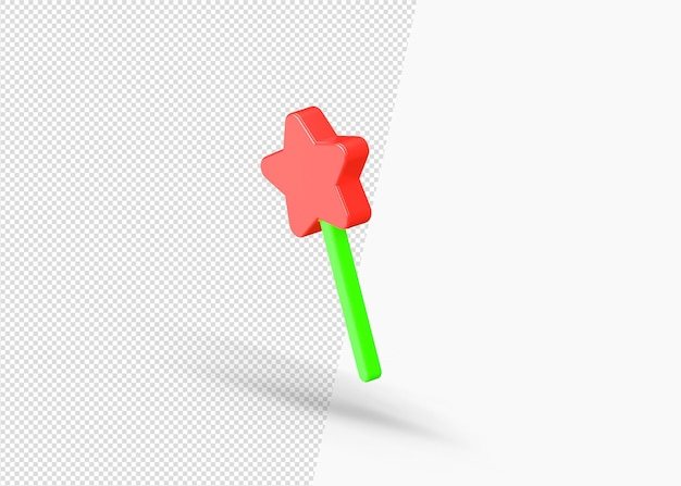 Renderização isolada de foguete de brinquedo 3d