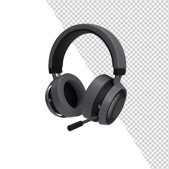 Renderização isolada de maquete de fone de ouvido