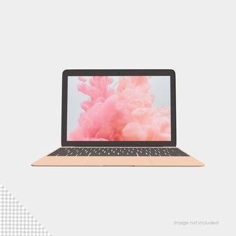 Renderização isolada de maquete de laptop