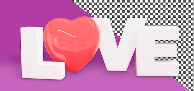 Renderização psd 3d love