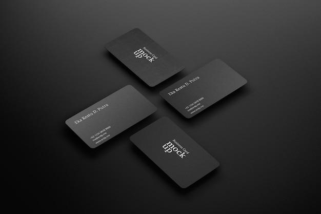 Renderização realista de maquete de cartão de visita