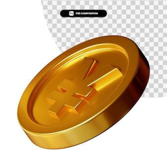 Renderização visual 3d de moedas isolada