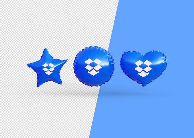 Renderizar balões de ícones de caixa de depósito isolados
