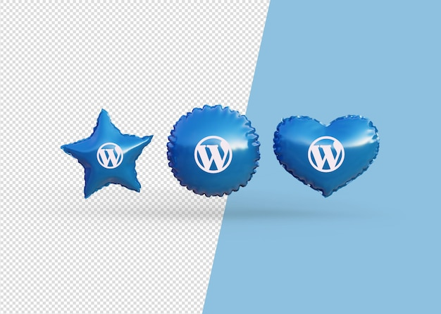Renderizar balões de ícones do wordpress isolados