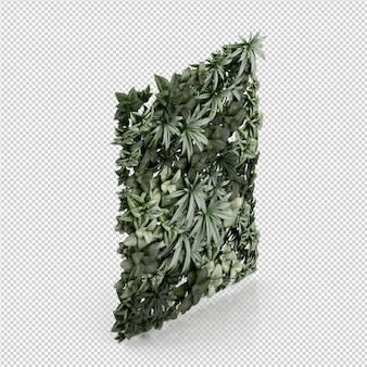 Rendição isométrica da planta 3d