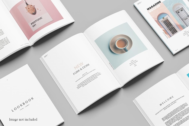 Repetition magazine mockup design isolated