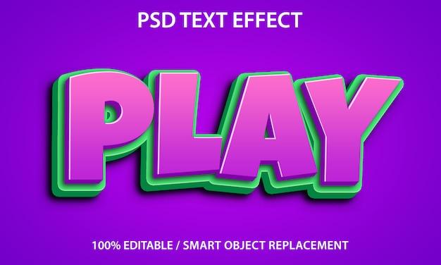 Reprodução de efeito de texto editável