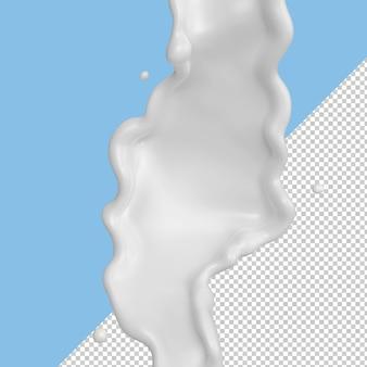 Respingos de leite isolados