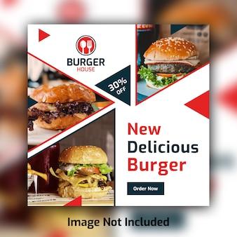 Restaurante comida mídia social post banner modelo psd