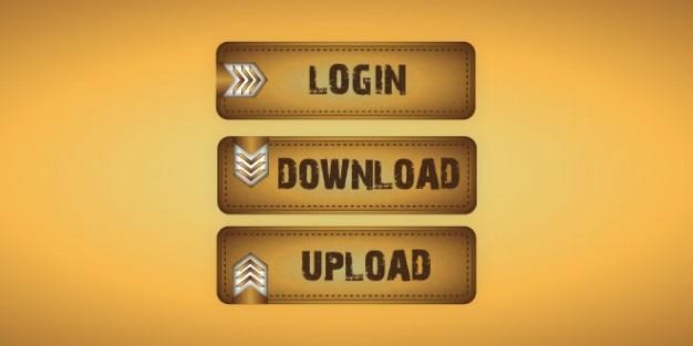 Retangular projeto botões de internet