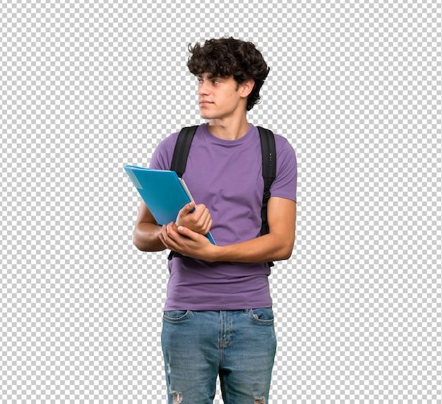 Retrato de homem jovem estudante