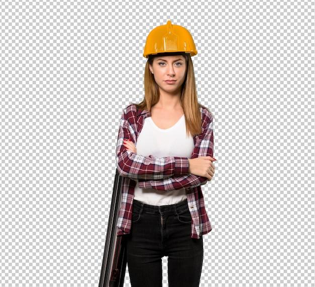 Retrato de mulher de arquiteto