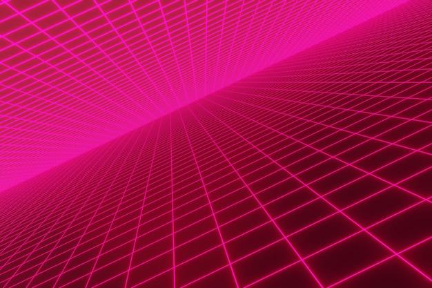 Retro neon light background