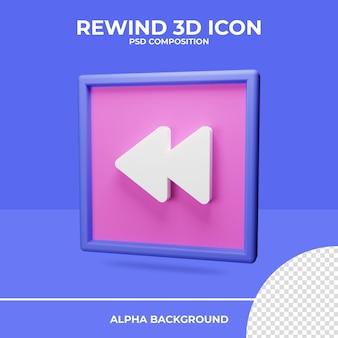Retroceder renderização do ícone de renderização 3d